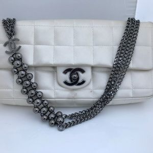 Authentic Chanel Mini Bag Clutch with Metal Chain